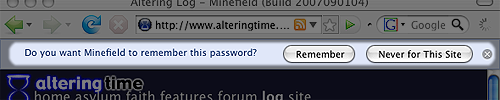 The new password UI.