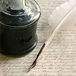 The noble writers I link to here do their first drafts with a quill.
